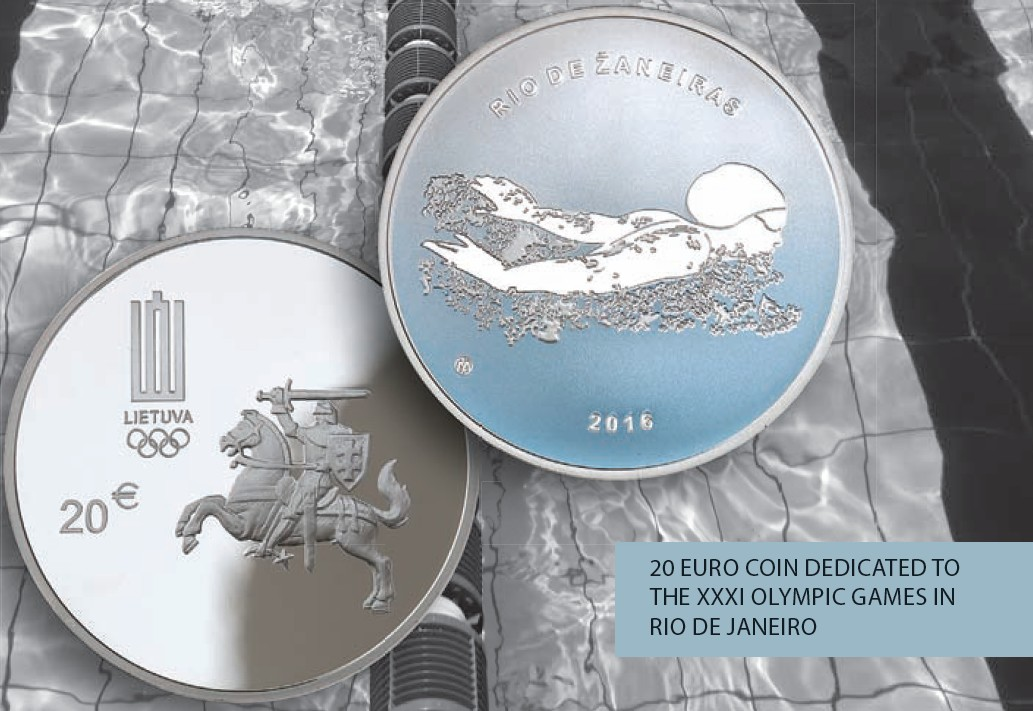 Lithuanian Silver Coin For 2016 Olympic Games World
