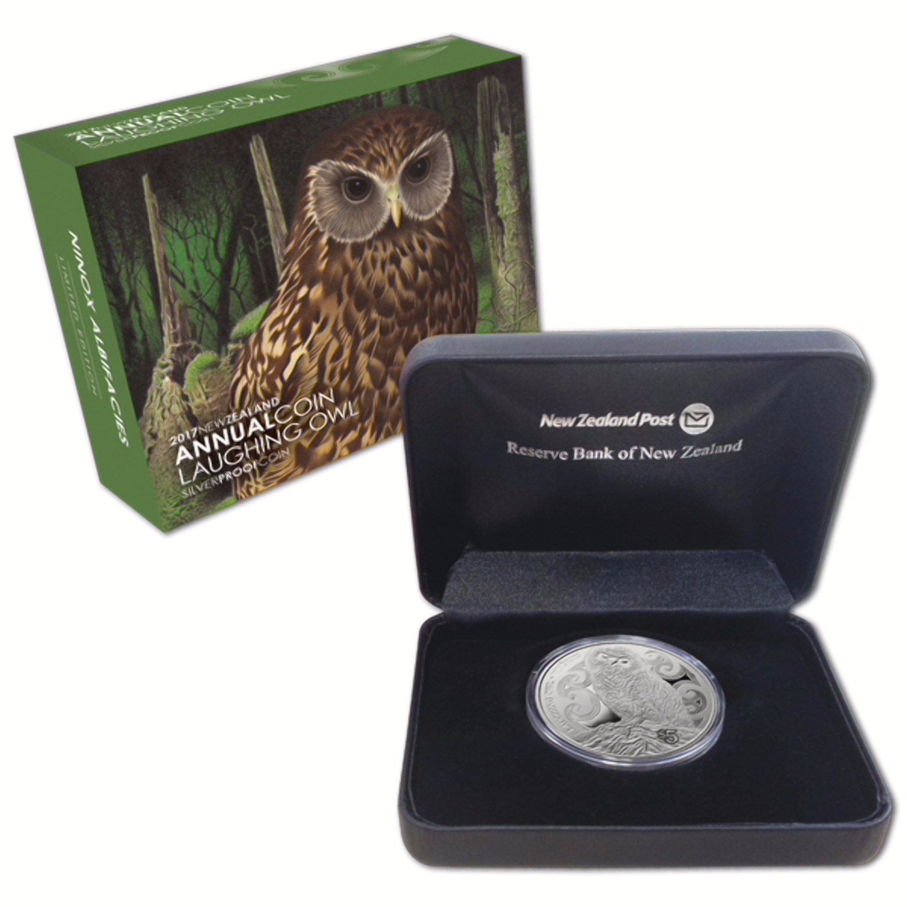 Laughing Owl Pure Silver Coin From New Zealand World