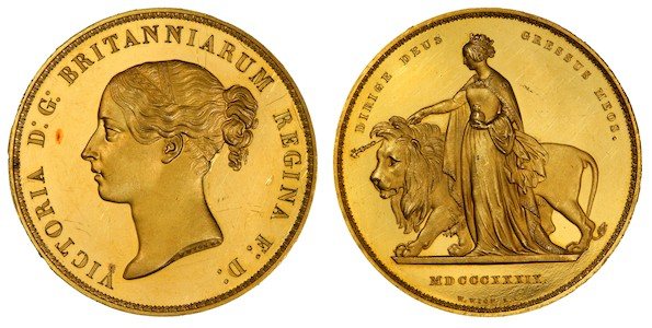 1839 Una and the Lion Coin