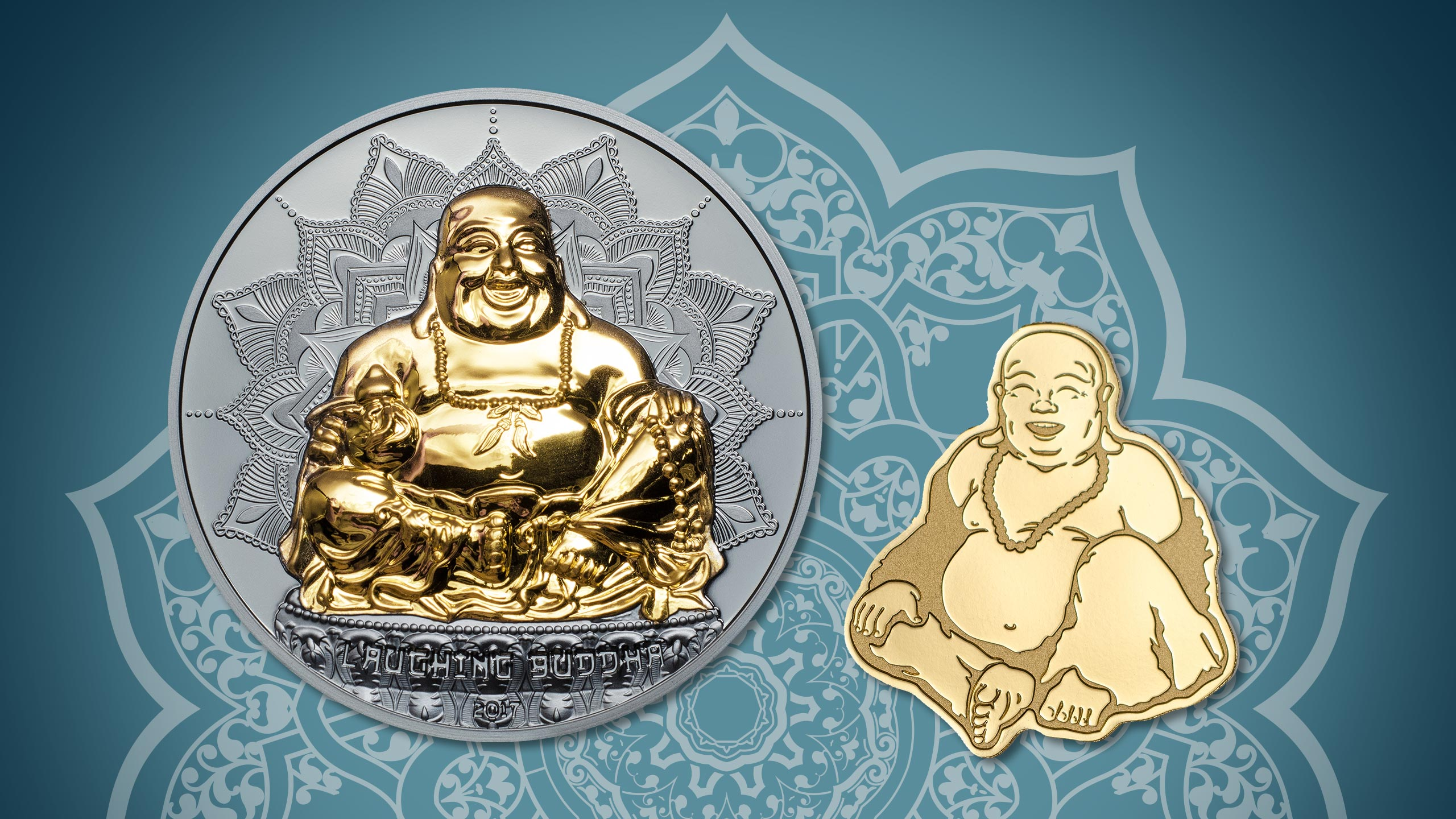 Laughing Buddha Shines On Ultra High Relief Silver Coin