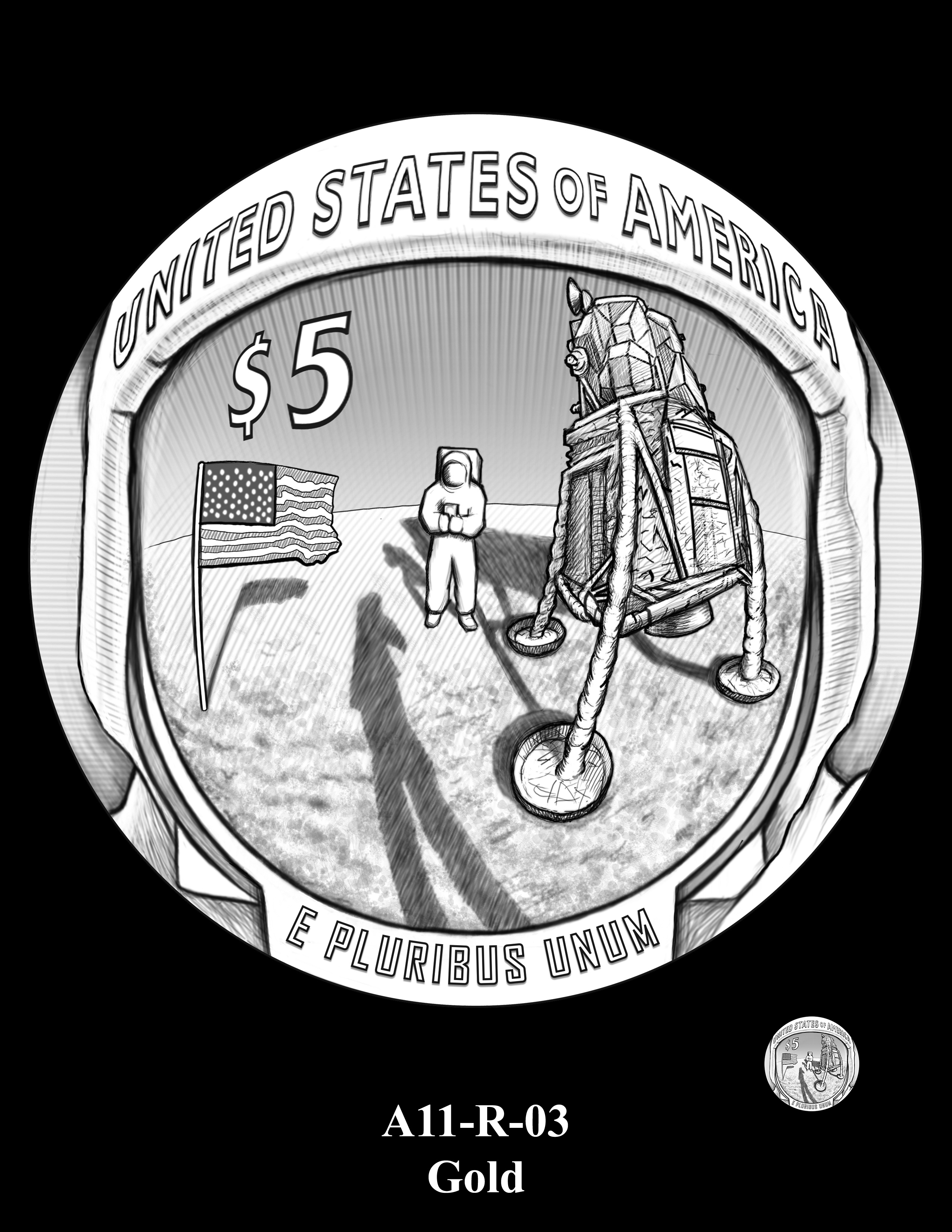 Reverse Designs For 2019 Apollo 11 Coins Chosen World