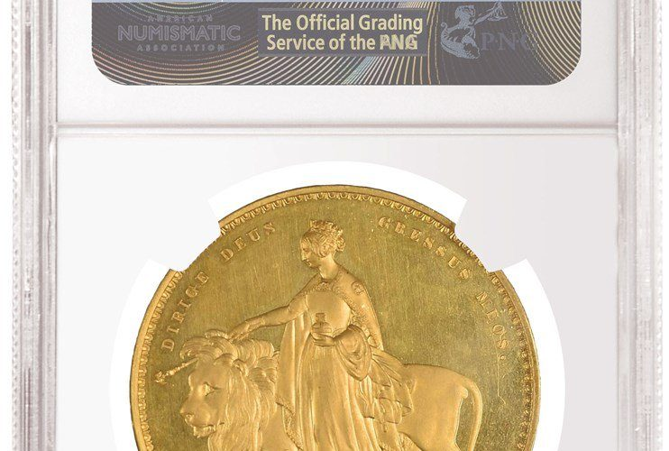 NGC Graded PF 65 Ultra Cameo 1839 Una and the Lion Gold Coin