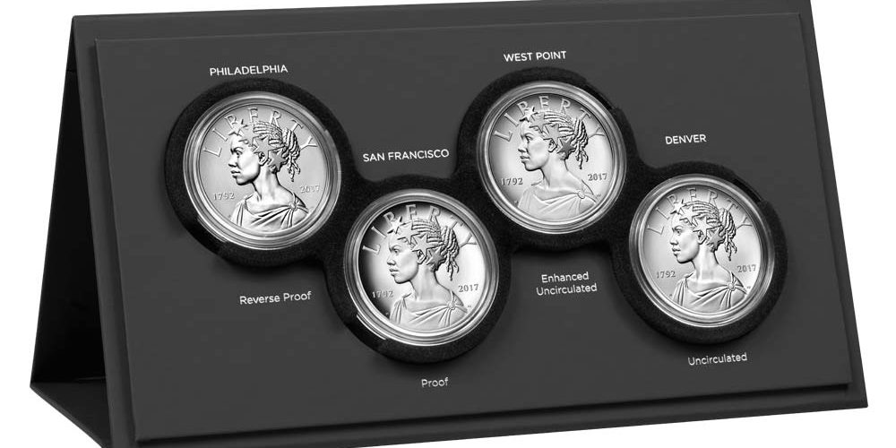 USA 2017 225th Anniversary 4 Medal Silver Set