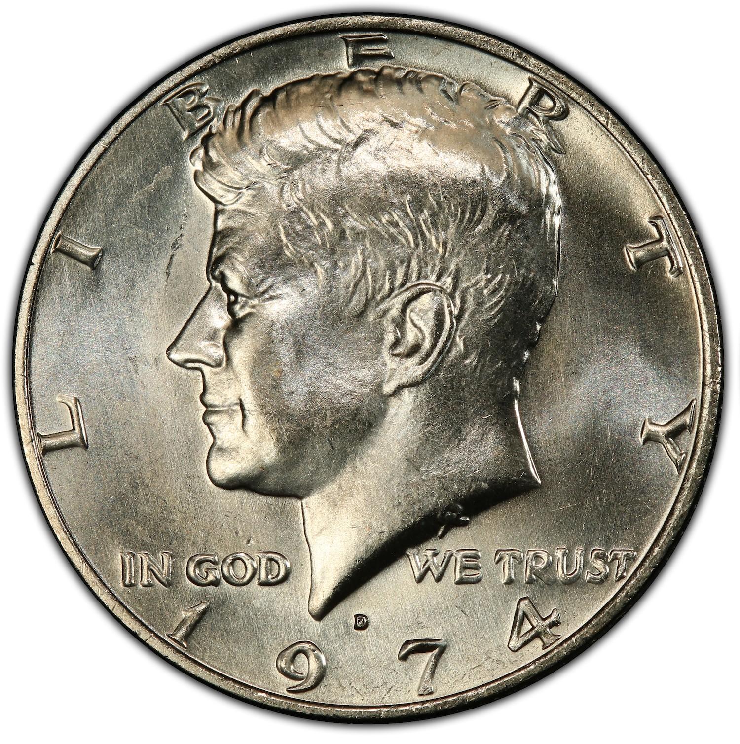 Valuable Kennedy Half Dollar Varieties : 1974 – World